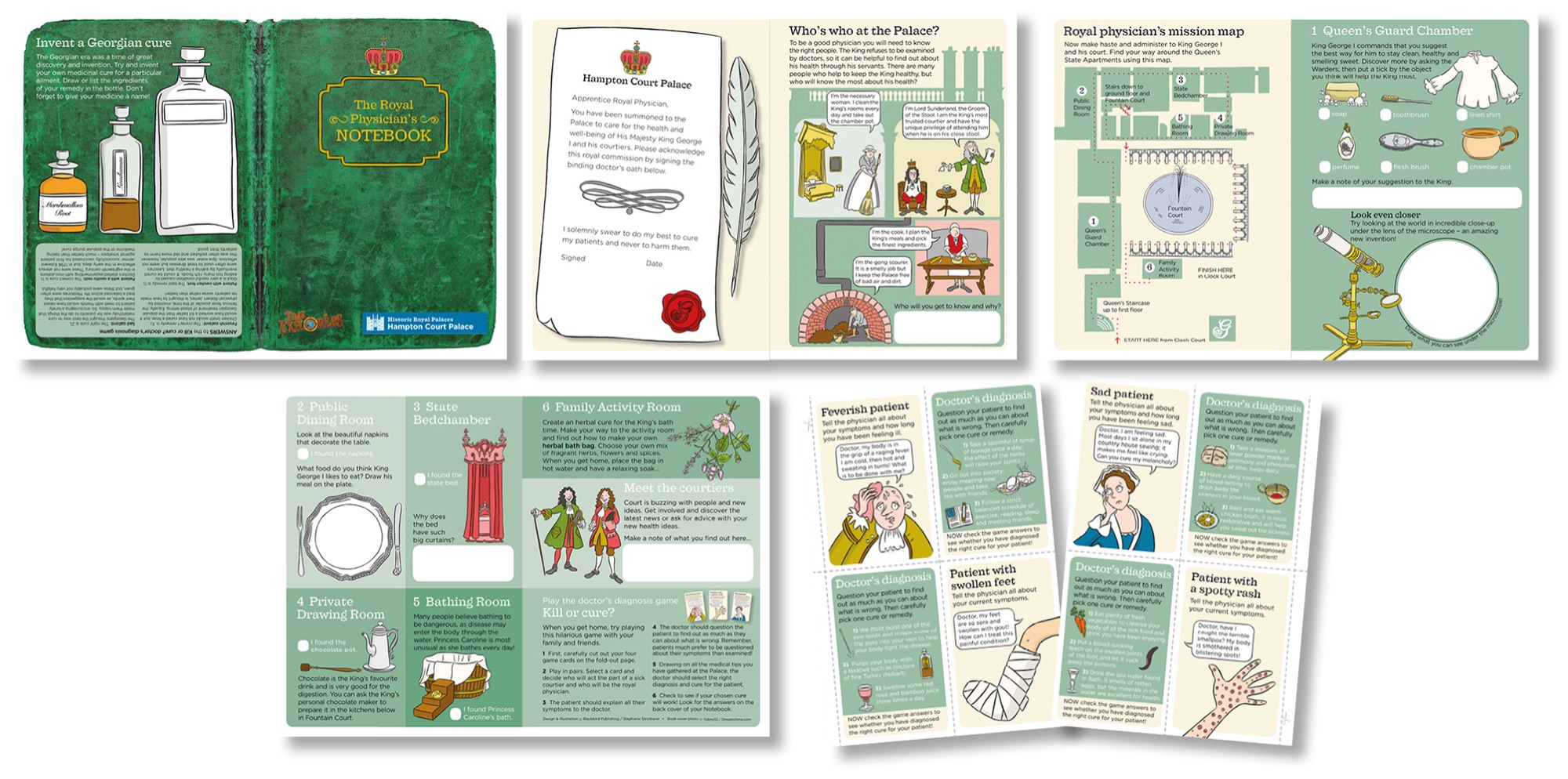 Blackbird Publishing Family Activity Trails Fill-in Booklet with Cut-out game Cards Historic Royal Palaces Hampton Court Palace