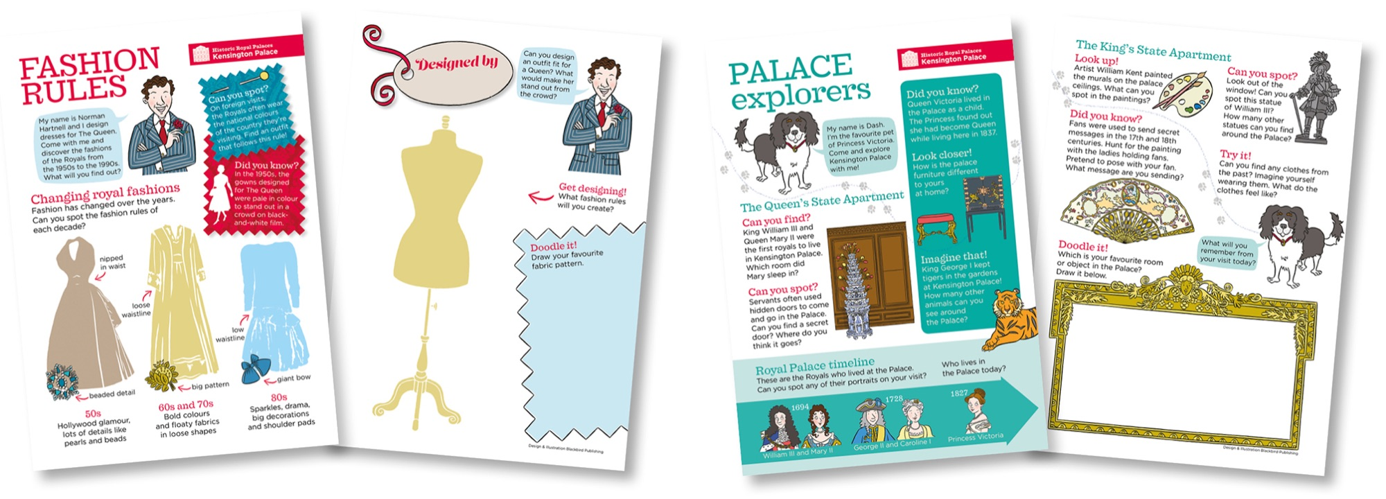 Blackbird Publishing Family Activity Trails Fill-in Cards Historic Royal Palaces Kensington Palace
