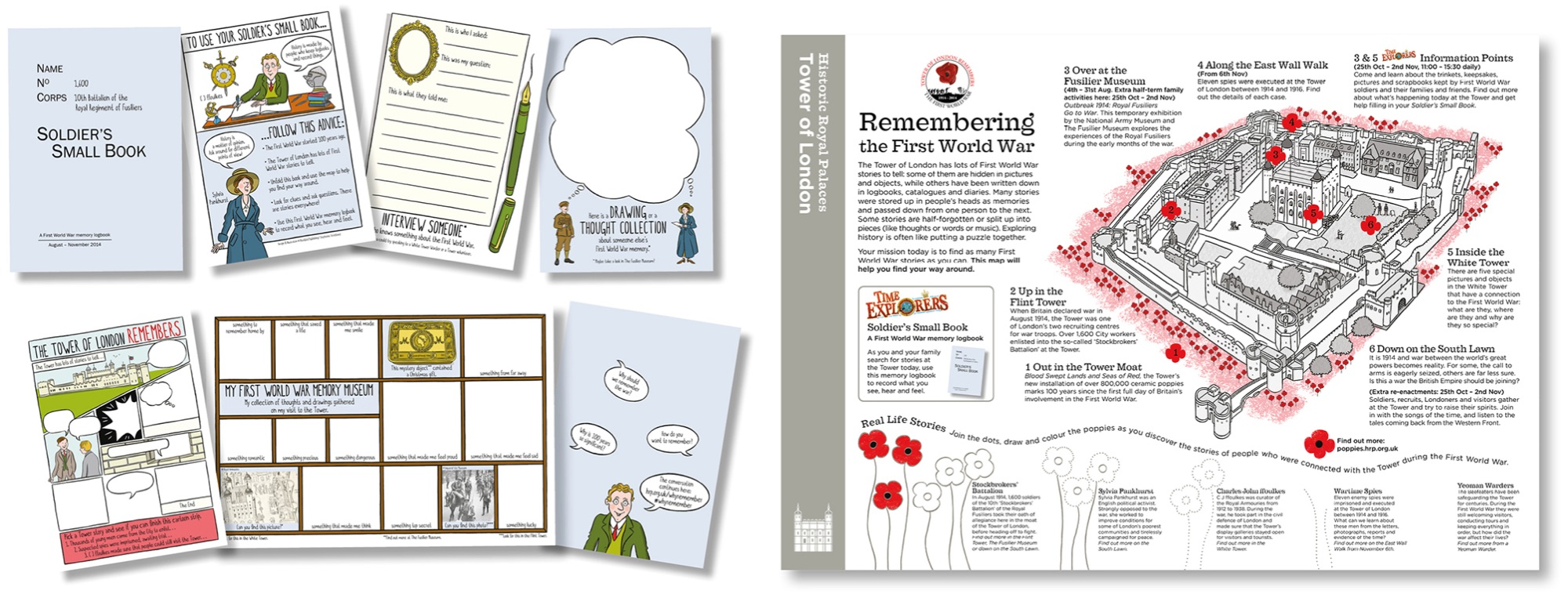 Blackbird Publishing Family Activity Trails Fold-out Booklet with Picture  Map Historic Royal Palaces Tower of London