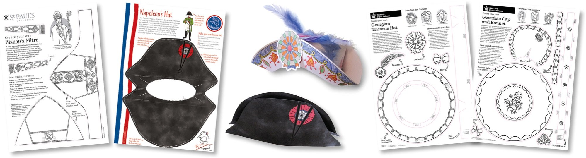 Blackbird Publishing Colouring Papercrafts Dressing-up Hat Activity Sheets