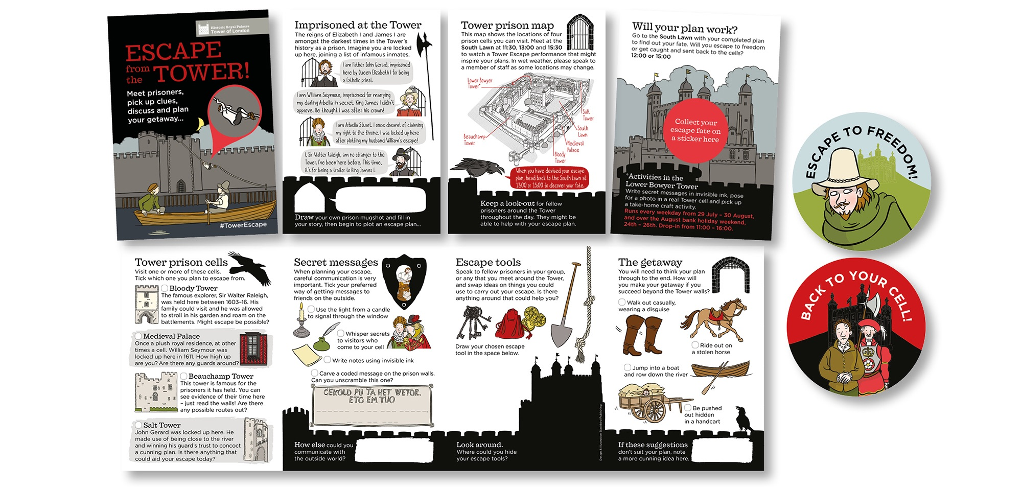 Blackbird Publishing Family Activity Trails Fold-out Activity Leaflet HRP Tower of London