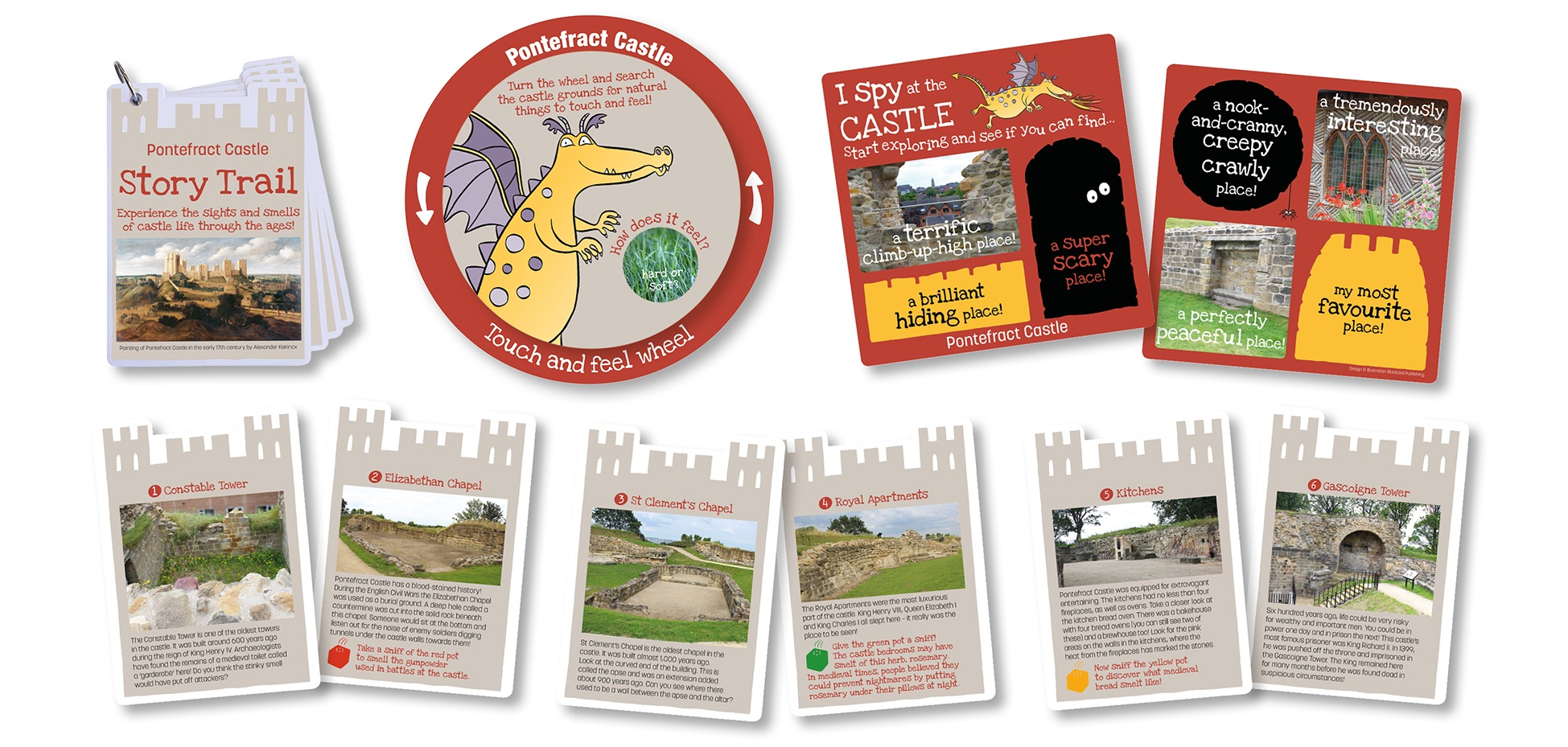 Blackbird Publishing Pontefract Castle Backpacks young  chidlren's reusable trails