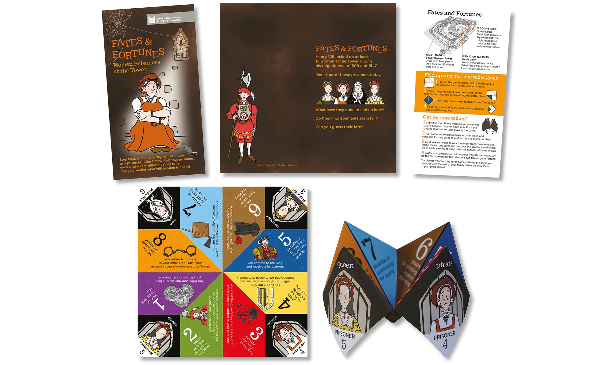 Blackbird Publishing HRP Tower of London Fates & Fortunes family activity trail Fortune teller game