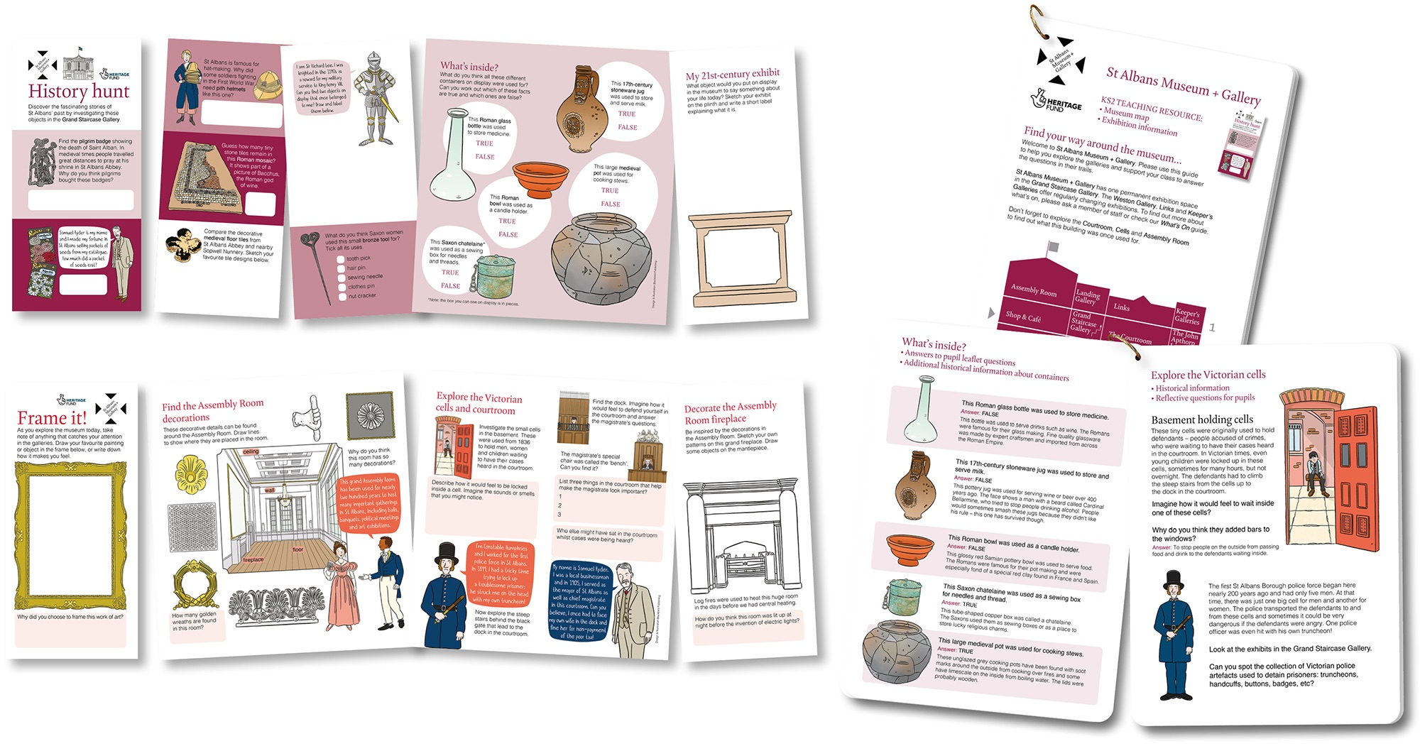 Blackbird Publishing KS2 School activity leaflets and Teaching resource cards St Albans Museum