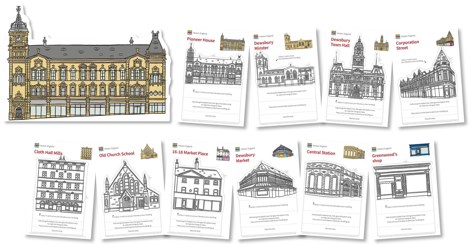 Blackbird Publishing Historic England Dewsbury heritage stand-up landmark buildings