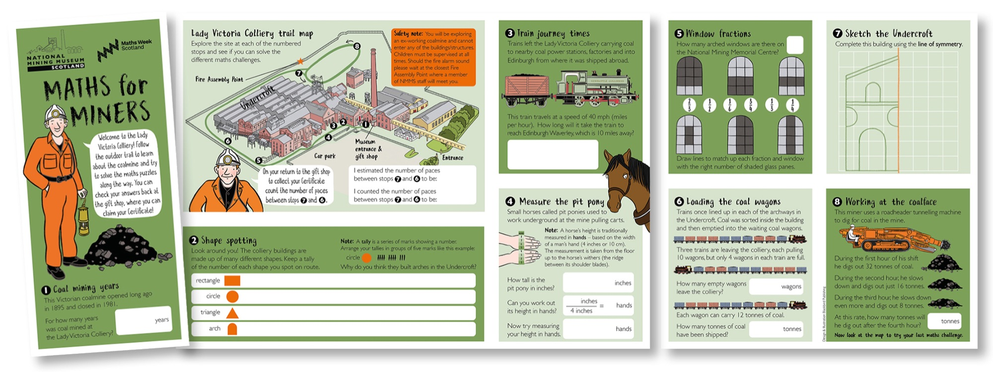 Blackbird Publishing National Mining Museum Scotland Maths for Miners outdoor activity trail