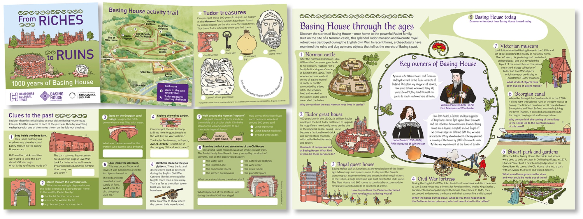 Blackbird Publishing Basing House Schools activity trail and illustrated timeline