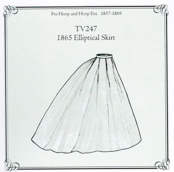 TV247 Elliptical skirt pattern