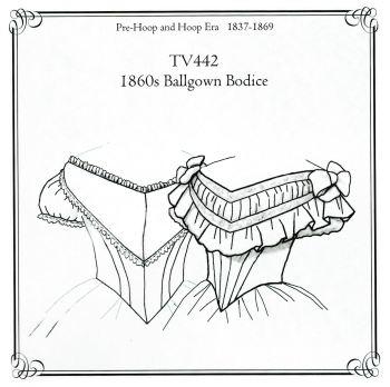 TV442 1860's Ballgown Bodice