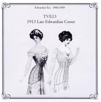 TVE13 Late Edwardian Corset Pattern