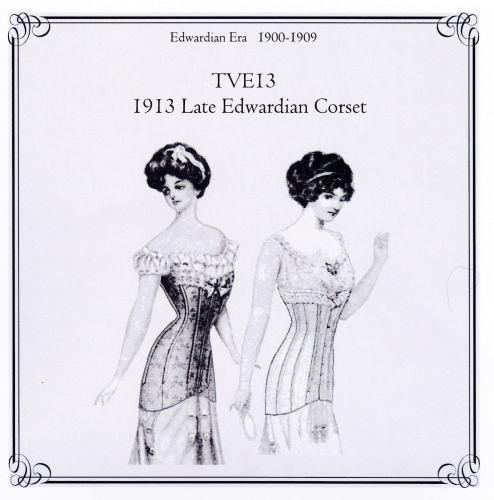 Late Edwardian Corset Pattern