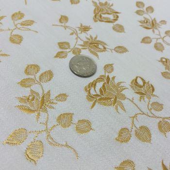 Rosebud coutil - ivory/gold