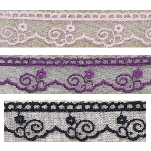 Tulle lace scrolls