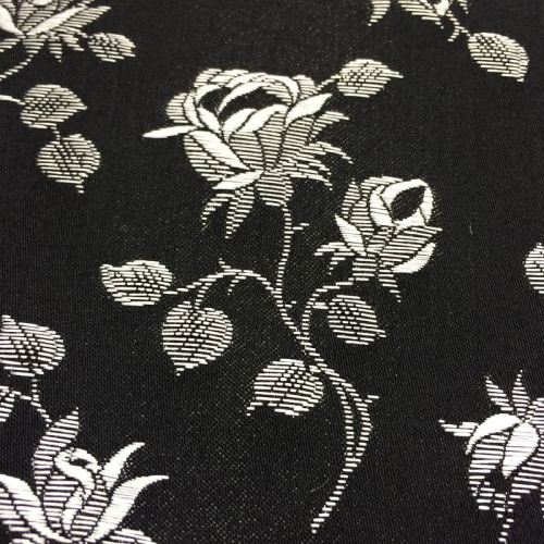 Rosebud coutil - black/silver