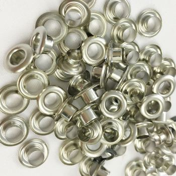 5mm silver eyelets