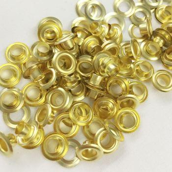 5mm gold eyelets
