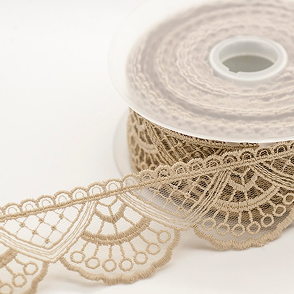 Embroidered Tulle Lace - Lotus