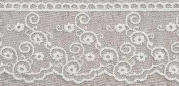Embroidered Tulle Lace - Clematis
