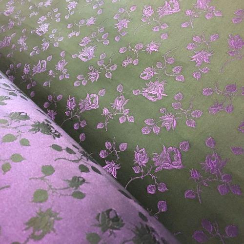 Rosebud coutil - black/purple
