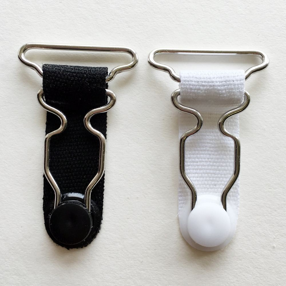 Metal suspender clips 28mm
