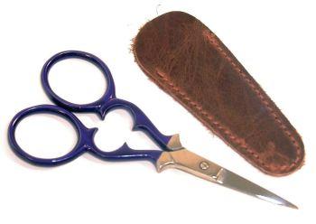 Purple scissors with case