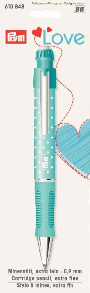 Cartridge pencil for dressmaking