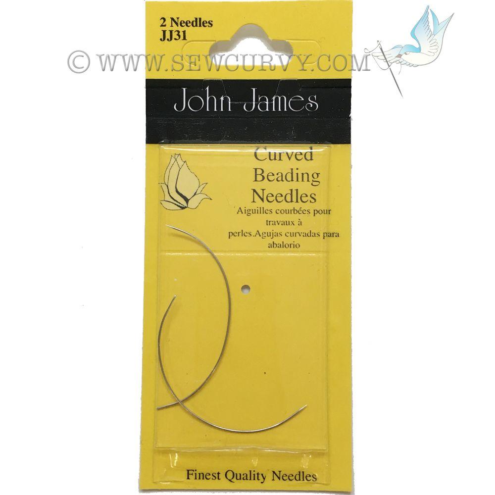 Curved beading needles