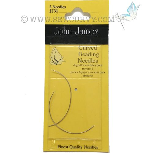 Curved beading needles
