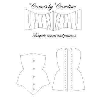 Tessa longline underbust corset pattern