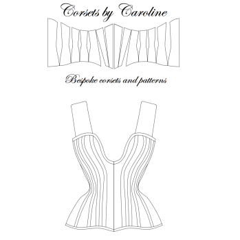 Lucille - Overbust plunge corset pattern