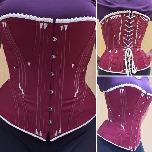 antique corset reproduction with Victorian style flossing