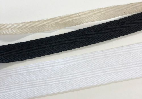 Herringbone twill tape for corsetry