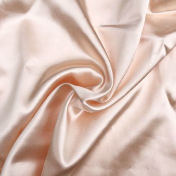 Cotton backed satin - Peach