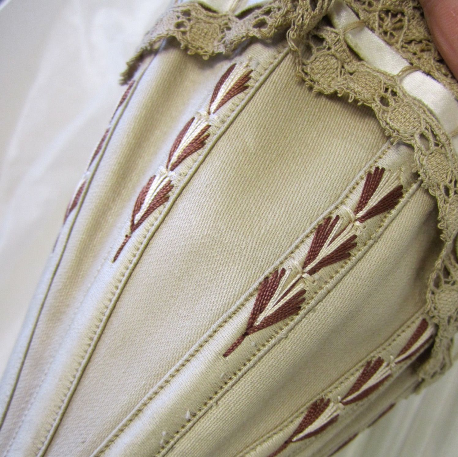 corset flossing on an antique victorian corset