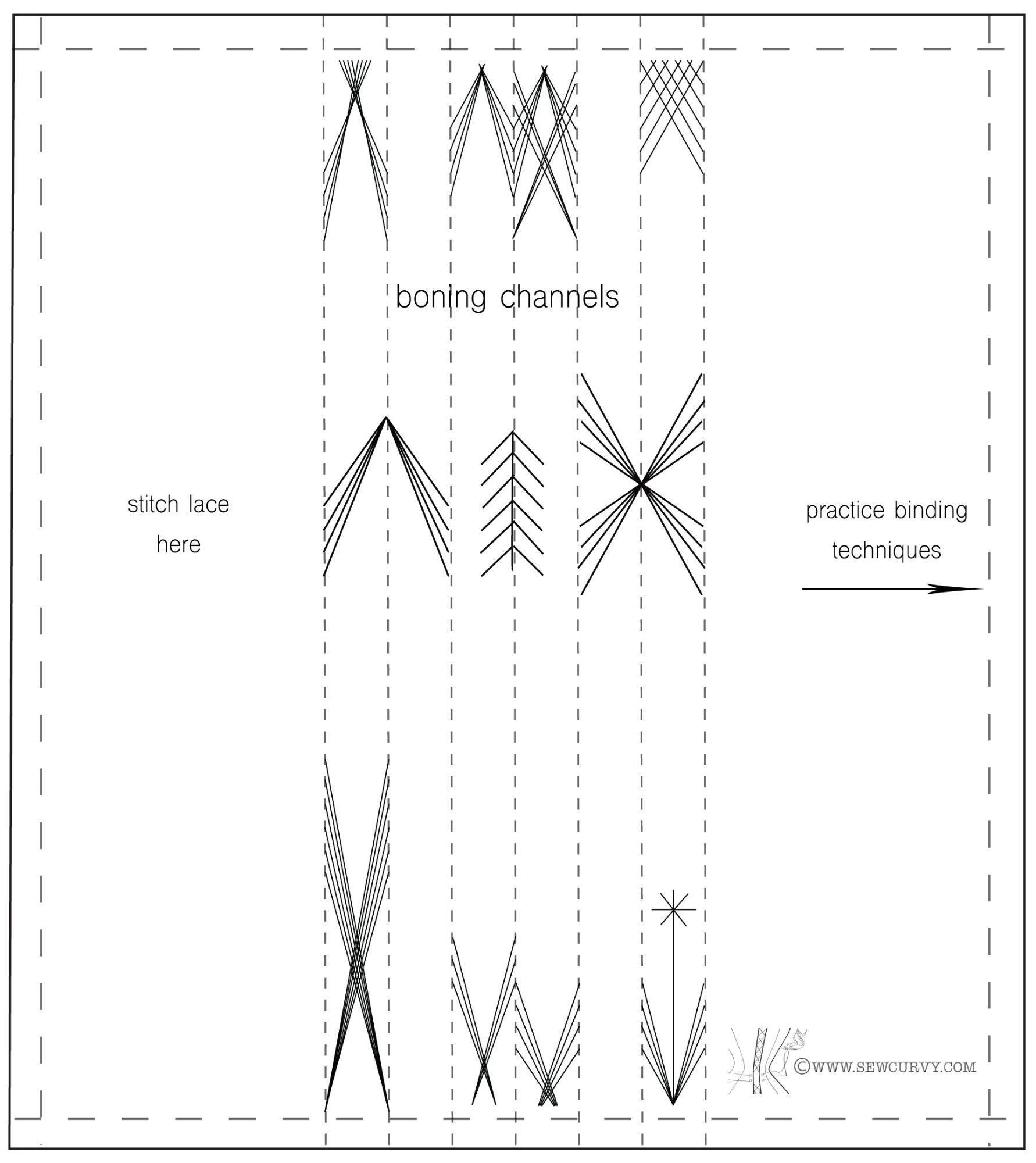 flossing sampler template