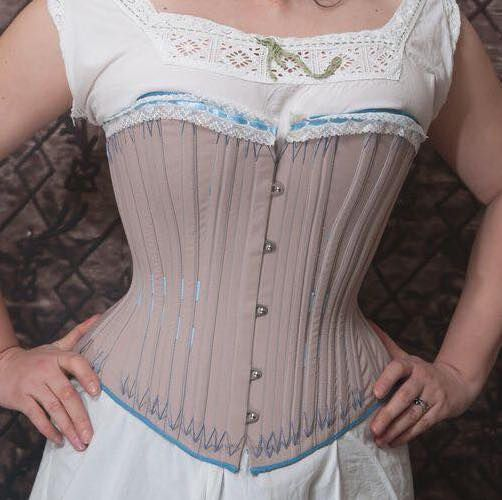 corset with external boning channels