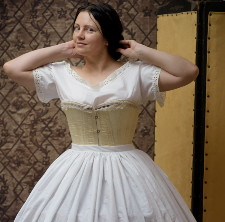 Making a Victorian corset
