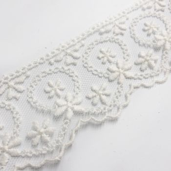 Embroidered Tulle Lace - Daisy Daisy