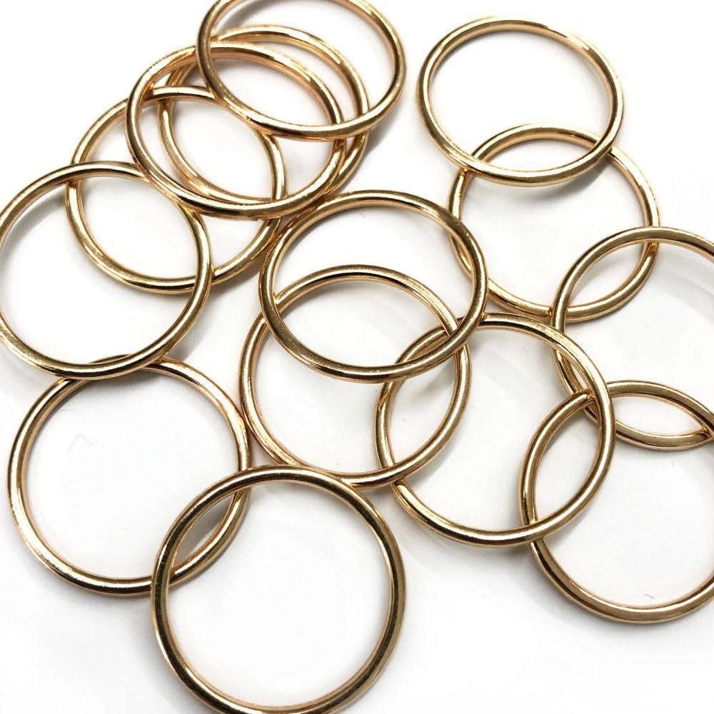 Lingerie rings - 18mm gold