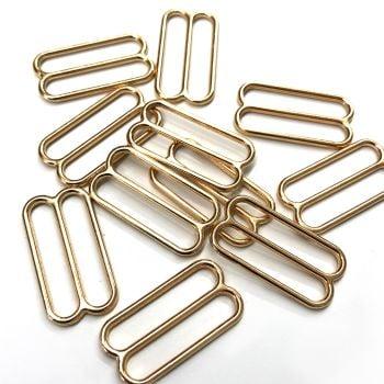 Slide adjusters 18mm Gold