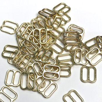 Slide adjusters 10mm Gold