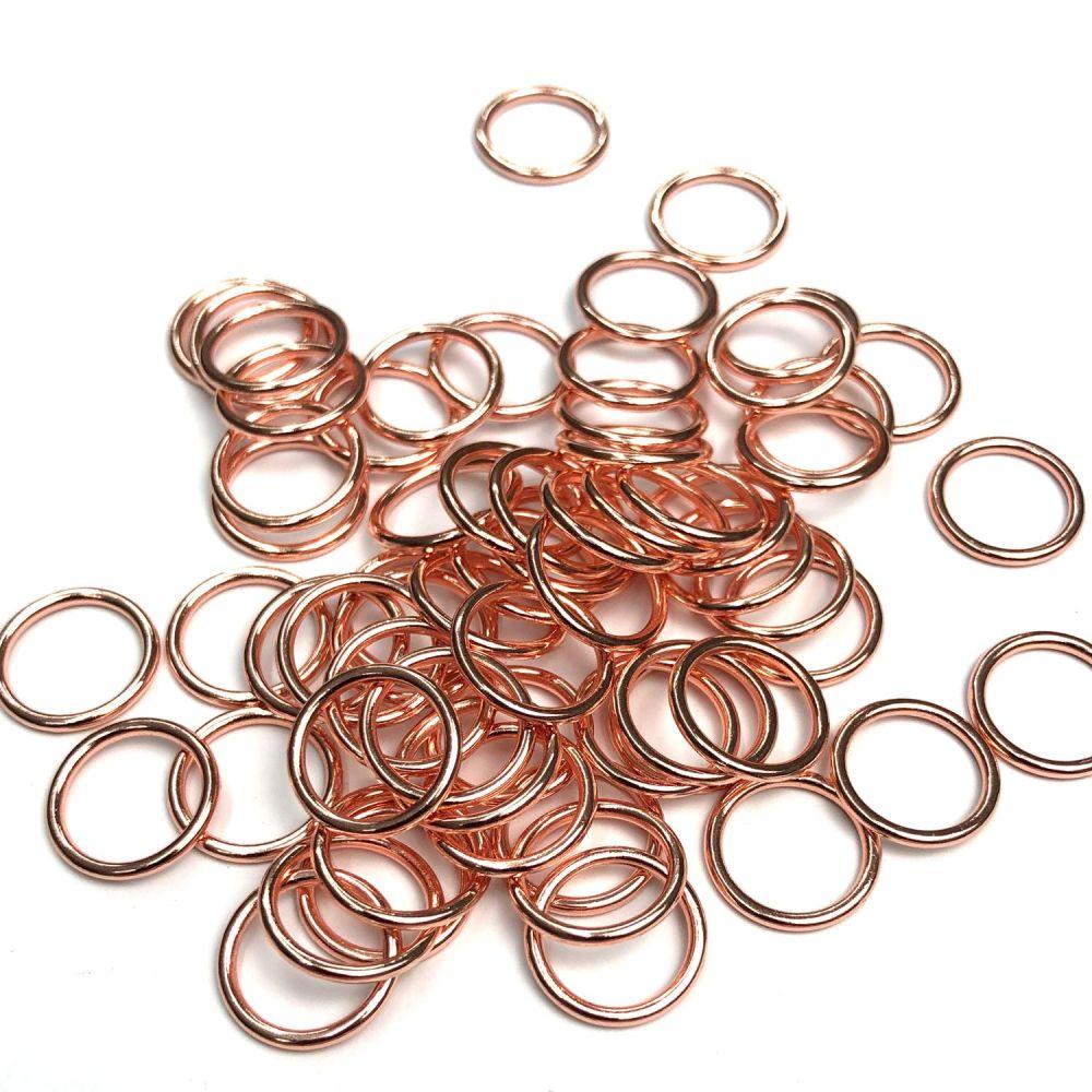 Lingerie rings - 10mm Rose gold