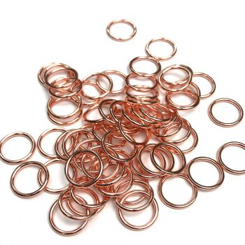 Lingerie rings - 10mm Rose gold