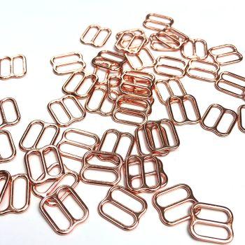 Slide adjusters 10mm Rose Gold