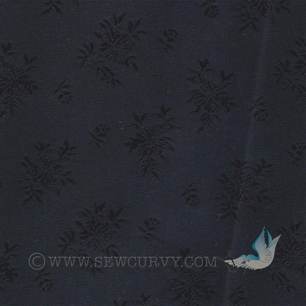 Broche boutinierre coutil - Black