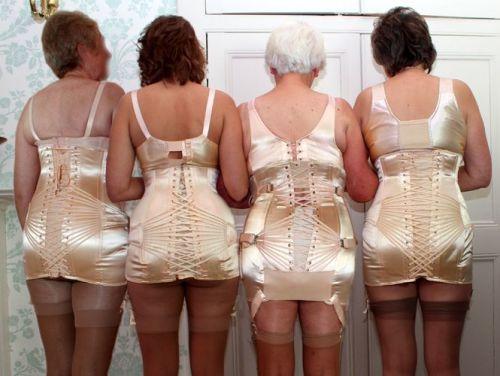 fan laced corset ladies