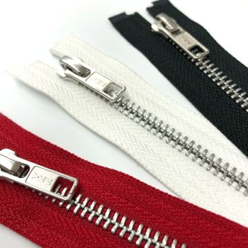 Metal open ended zips 30cm