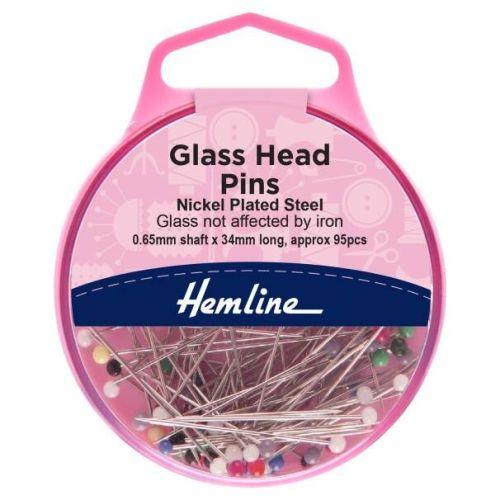 Glass Headed Pins 34mm