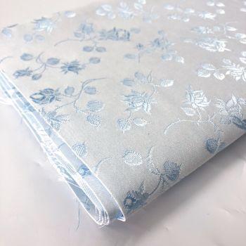 Rosebud coutil - ivory/blue