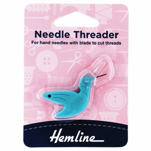 Needle threader - bluebird